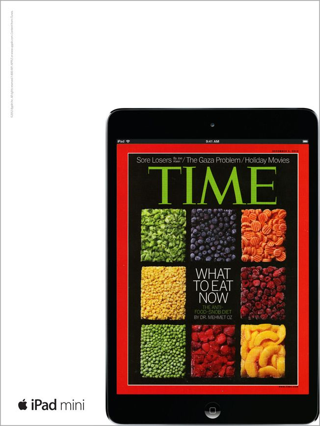 Time magazine on iPad mini