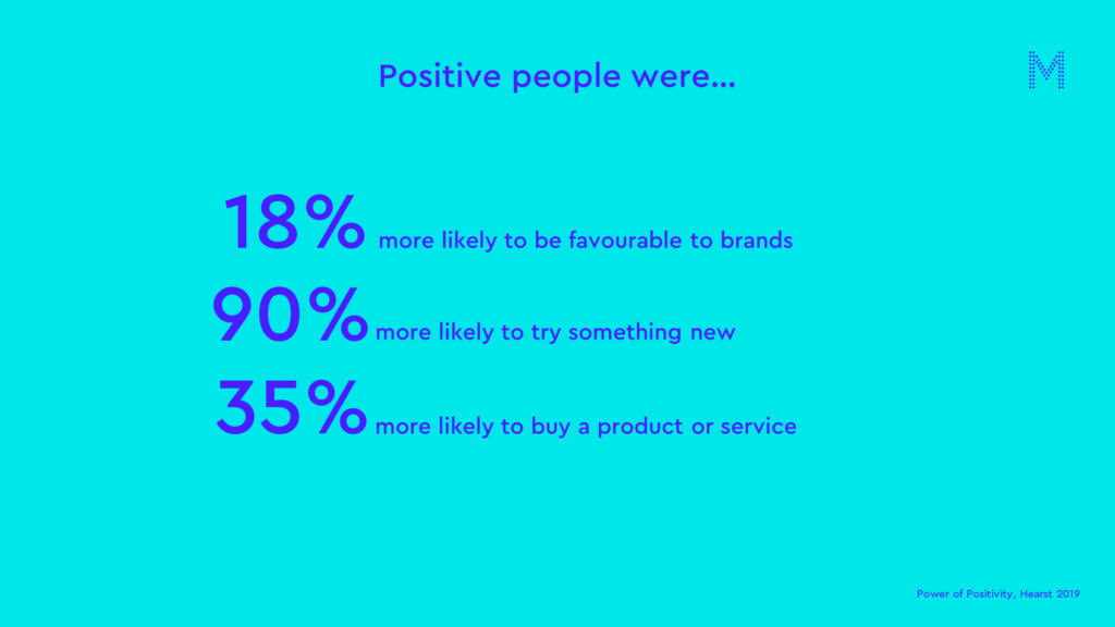 Positive people were…